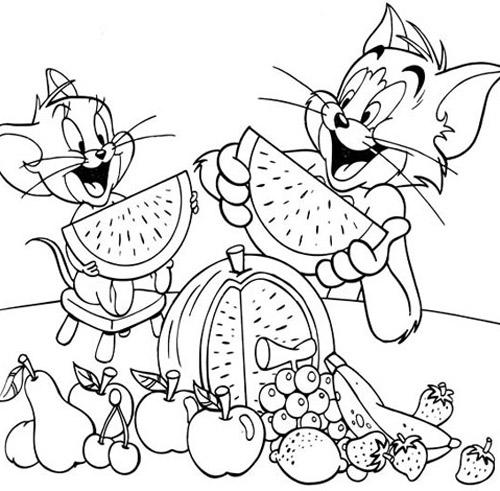 Eva tặng bé bộ tranh tô màu Tom&Jerry - 7