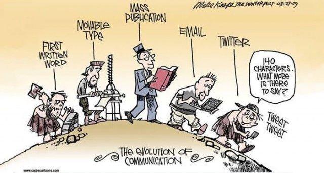Sự tiến hoá trong phương pháp giao tiếp giữa người với người
